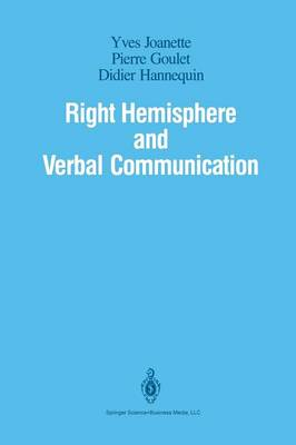 Right Hemisphere and Verbal Communication (Paperback)