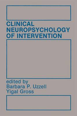 Clinical Neuropsychology of Intervention (Paperback)