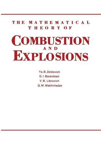 The Mathematical Theory of Combustion and Explosions (Paperback)
