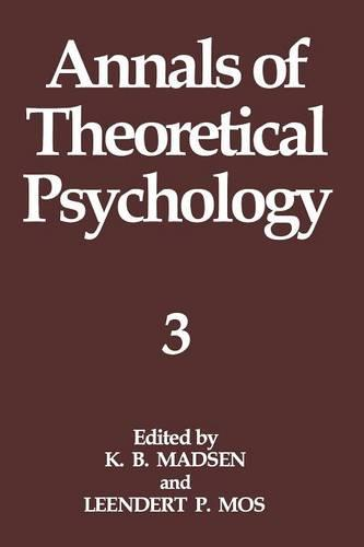 Annals of Theoretical Psychology: Volume 3 (Paperback)