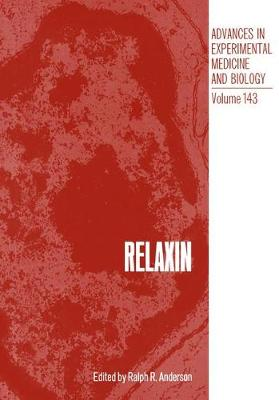 Relaxin - Advances in Experimental Medicine and Biology (Paperback)