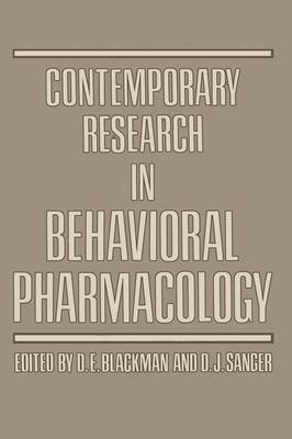 Contemporary Research in Behavioral Pharmacology (Paperback)