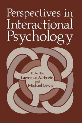 Perspectives in Interactional Psychology (Paperback)