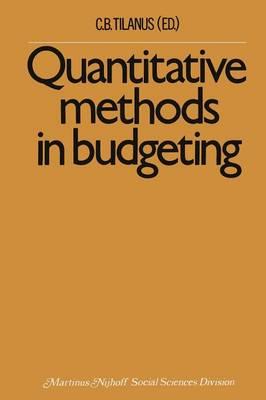 Quantitative methods in budgeting (Paperback)