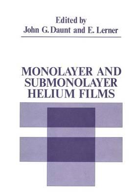 Monolayer and Submonolayer Helium Films (Paperback)