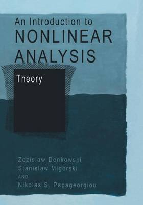 An Introduction to Nonlinear Analysis: Theory (Paperback)