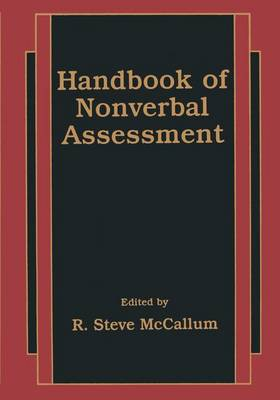 Handbook of Nonverbal Assessment (Paperback)