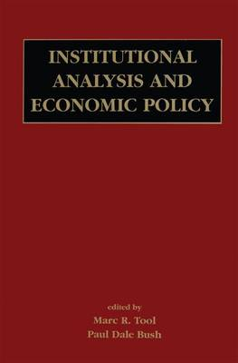 Institutional Analysis and Economic Policy (Paperback)