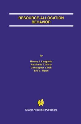 Resource-Allocation Behavior (Paperback)