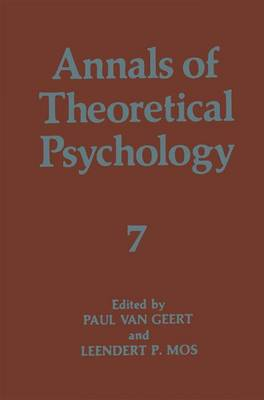 Annals of Theoretical Psychology - Annals of Theoretical Psychology 7 (Paperback)