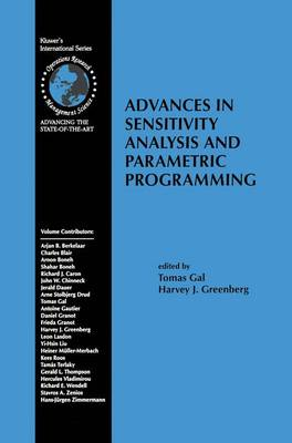Advances in Sensitivity Analysis and Parametric Programming - International Series in Operations Research & Management Science 6 (Paperback)