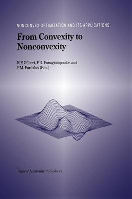 From Convexity to Nonconvexity - Nonconvex Optimization and Its Applications 55 (Paperback)