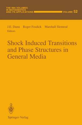 Shock Induced Transitions and Phase Structures in General Media - The IMA Volumes in Mathematics and its Applications 52 (Paperback)