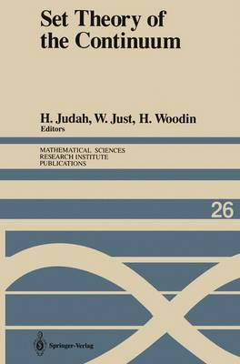 Set Theory of the Continuum - Mathematical Sciences Research Institute Publications 26 (Paperback)
