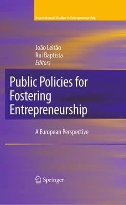 Public Policies for Fostering Entrepreneurship: A European Perspective - International Studies in Entrepreneurship 22 (Paperback)