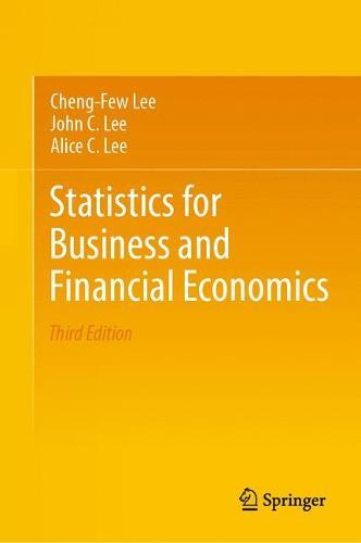 Statistics for Business and Financial Economics (Hardback)