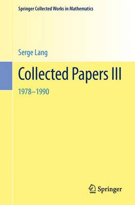 Collected Papers 1990-1996 - Springer Collected Works in Mathematics (Paperback)