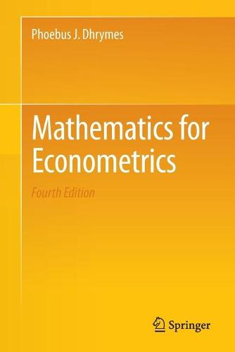 Mathematics for Econometrics (Paperback)