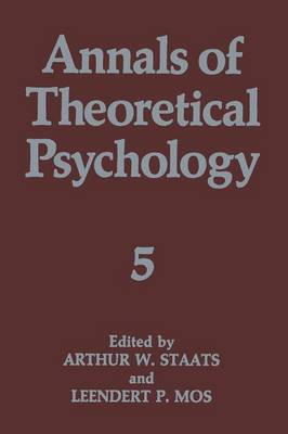 Annals of Theoretical Psychology - Annals of Theoretical Psychology 5 (Paperback)