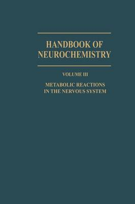 Metabolic Reactions in the Nervous System (Paperback)