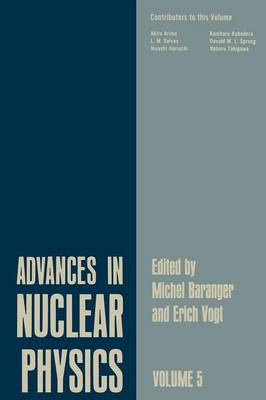 Advances in Nuclear Physics: Volume 5 - Advances in Nuclear Physics 5 (Paperback)