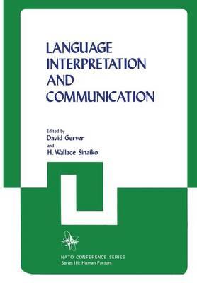 Language Interpretation and Communication - III Human Factors 6 (Paperback)
