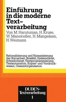 Einfuhrung in Die Moderne Textverarbeitung (Paperback)