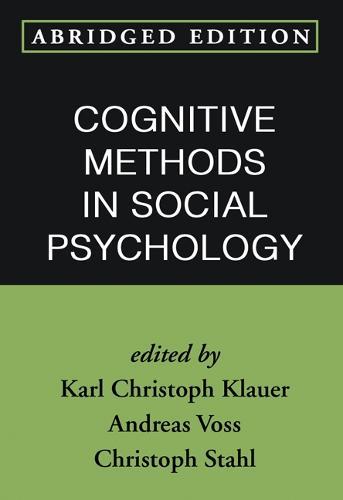 Cognitive Methods in Social Psychology, Abridged Edition (Paperback)