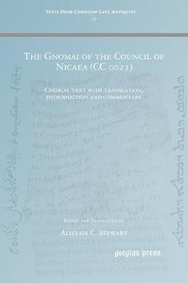 The Gnomai of the Council of Nicaea (CC 0021) (Paperback)