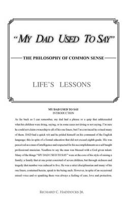 My Dad Used to Say: The Philosophy of Common Sense (Paperback)