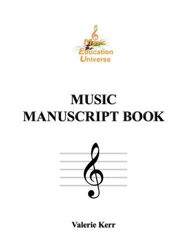 Music Manuscript Book (Paperback)