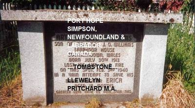Port Hope Simpson, Newfoundland and Labrador, Canada: Tombstone - Port Hope Simpson Mysteries in Labrador Newfoundland, Canada No. 5 (Paperback)