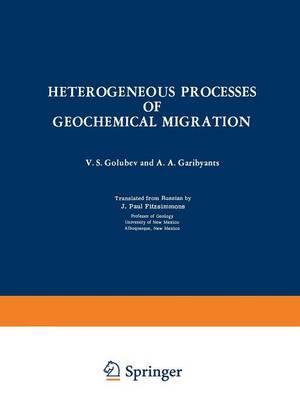Heterogeneous Processes of Geochemical Migration (Paperback)