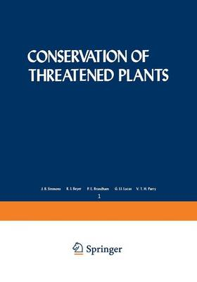 Conservation of Threatened Plants - Nato Conference Series 1 (Paperback)