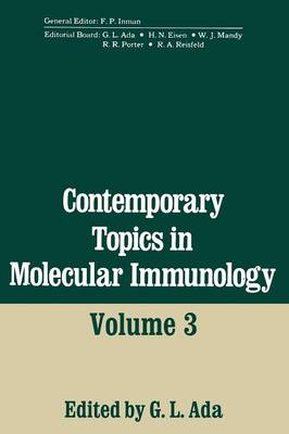Contemporary Topics in Molecular Immunology: Volume 3 (Paperback)