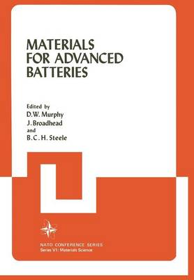Materials for Advanced Batteries - VI Materials Science 2 (Paperback)