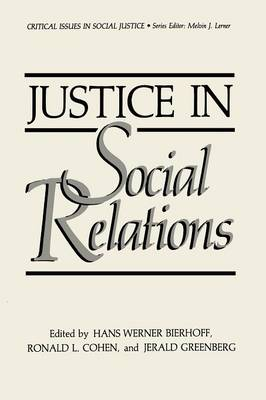 Justice in Social Relations - Critical Issues in Social Justice (Paperback)