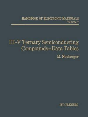 III-V Ternary Semiconducting Compounds-Data Tables (Paperback)