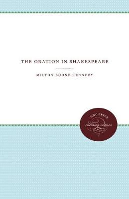 The Oration in Shakespeare (Paperback)