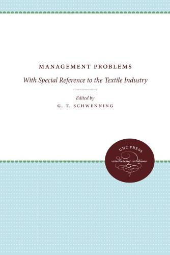 Management Problems: With Special Reference to the Textile Industry (Paperback)