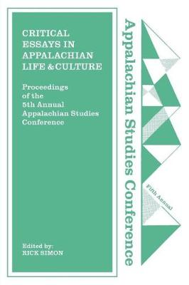Critical Essays in Appalachian Life and Culture (Paperback)