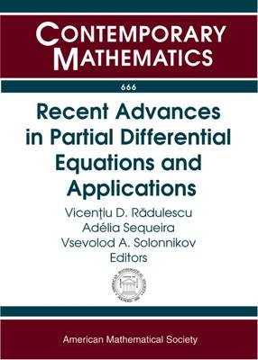Recent Advances in Partial Differential Equations and Applications - Contemporary Mathematics (Paperback)