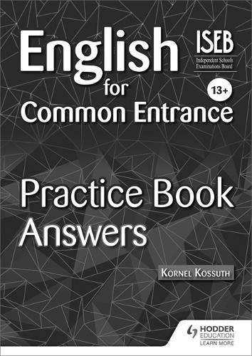 English for Common Entrance 13+ Practice Book Answers (Paperback)