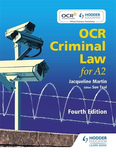 OCR Criminal Law for A2 Fourth Edition (Paperback)