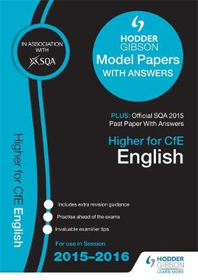Higher English 2015/16 SQA Specimen, Past and Hodder Gibson Model Papers (Paperback)