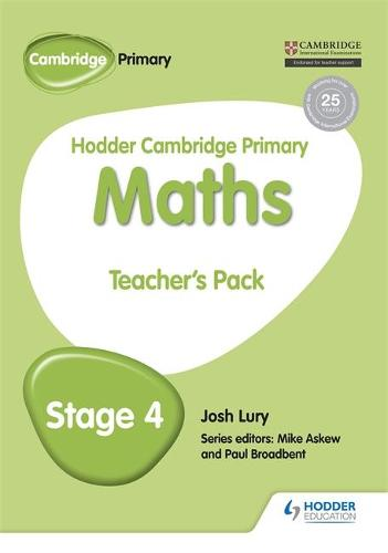 Hodder Cambridge Primary Maths Teacher's Pack 4 - Hodder Cambridge Primary Science (Paperback)