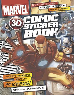 Marvel 3D Comic Sticker Book (Paperback)