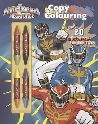 Power Rangers Copy Colouring: Over 20 pictures to colour! (Paperback)