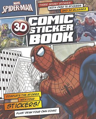 Marvel Spiderman 3D Comic Sticker Book (Paperback)