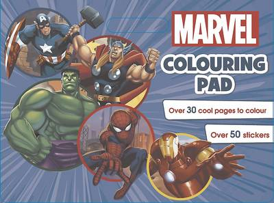 Marvel Colouring Pad (Paperback)